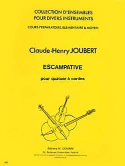 Escampative - 4 Violons Claude-Henry Joubert Partition laflutedepan