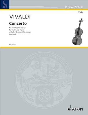 Concerto en ré mineur VIVALDI Partition Violon - laflutedepan