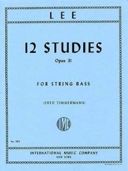 12 Studies op. 31 - String bass Sebastian Lee Partition laflutedepan