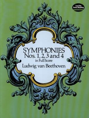 Symphonies N° 1, 2, 3 & 4 BEETHOVEN Partition laflutedepan