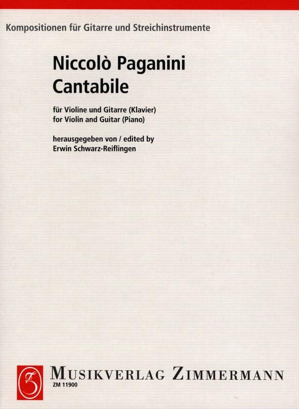Cantabile - PAGANINI - Partition - 0 - laflutedepan.com