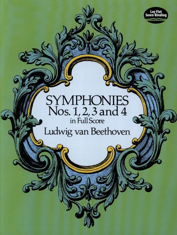 Symphonies N° 1, 2, 3 & 4 - BEETHOVEN - Partition - laflutedepan.com
