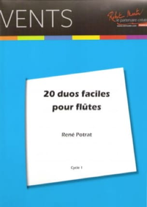 20 Duos Faciles pour flûtes - René Potrat - laflutedepan.com