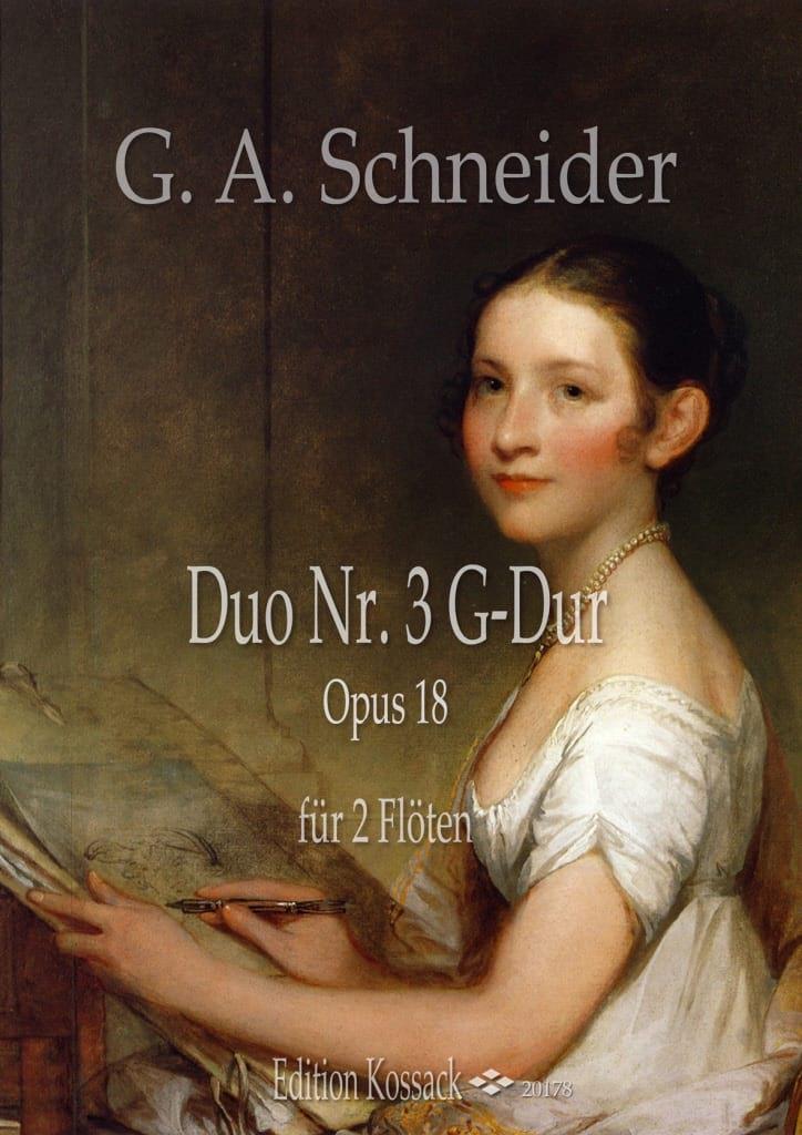 Duo Concertant n° 3 - Georg Abraham Schneider - laflutedepan.com