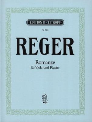 Romanze - Viola Max Reger Partition Alto - laflutedepan