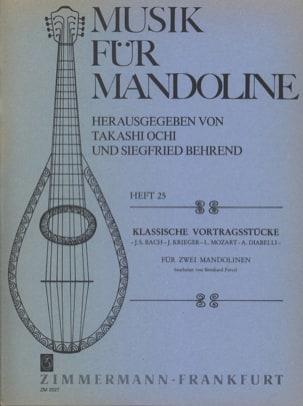 Pièces Classiques Pour 2 Mandolines Partition laflutedepan