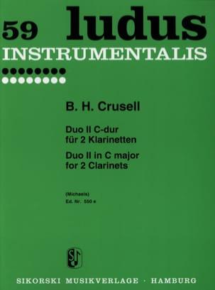 Duo Nr. 2 C-Dur - 2 Klarinetten Bernhard Henrik Crusell laflutedepan