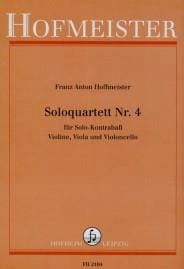 Soloquartett Nr. 4 -Partitur + Stimmen HOFFMEISTER laflutedepan