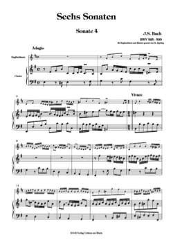BACH - 6 Sonaten BWV 525-530 - Bd. 2 - English Horn Klavier - Partition - di-arezzo.co.uk