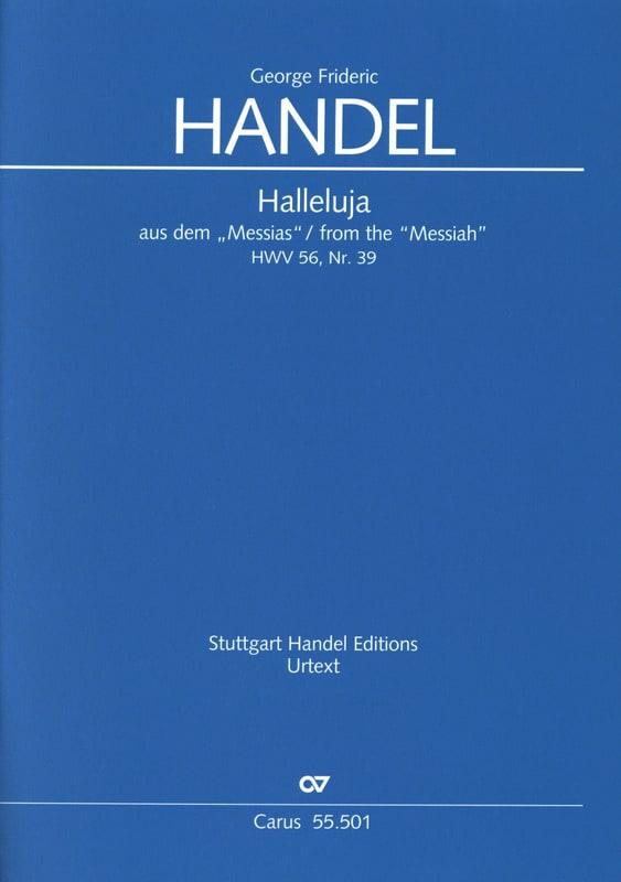 Alleluia extrait de l'oratorio : Le Messie, HWV 56, N°39 - Edition Urtext - laflutedepan.com