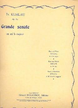 Grande sonate en mi b majeur op. 64 Friedrich Kuhlau laflutedepan