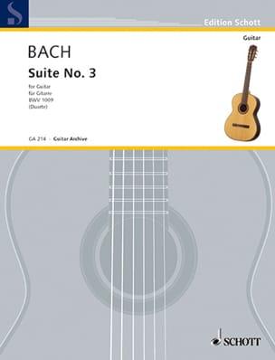 Suite n° 3 BWV 1009 - Gitarre BACH Partition Guitare - laflutedepan