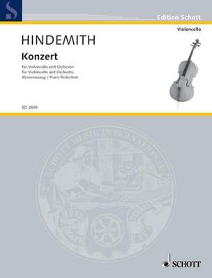 Concerto 1940 HINDEMITH Partition Violoncelle - laflutedepan