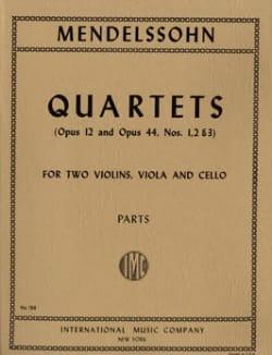 String Quartets op. 12, 44 n° 1-3 -Parts MENDELSSOHN laflutedepan