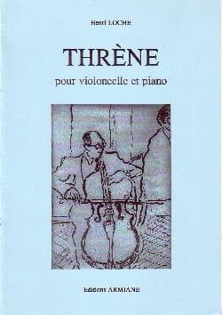 Thrène Henri Loche Partition Violoncelle - laflutedepan