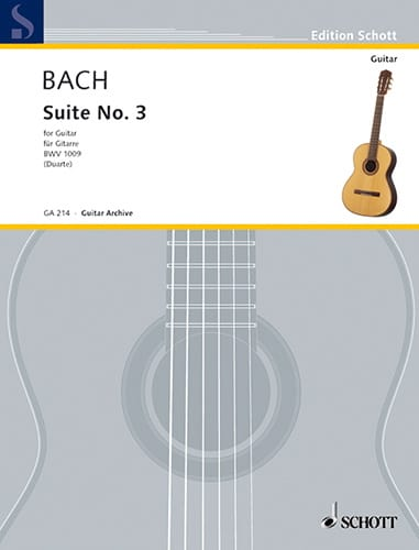 Suite n° 3 BWV 1009 - Gitarre - BACH - Partition - laflutedepan.com