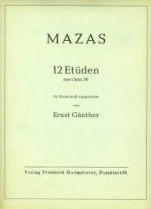 12 Etüden aus op. 36 - Kontrabass - MAZAS - laflutedepan.com