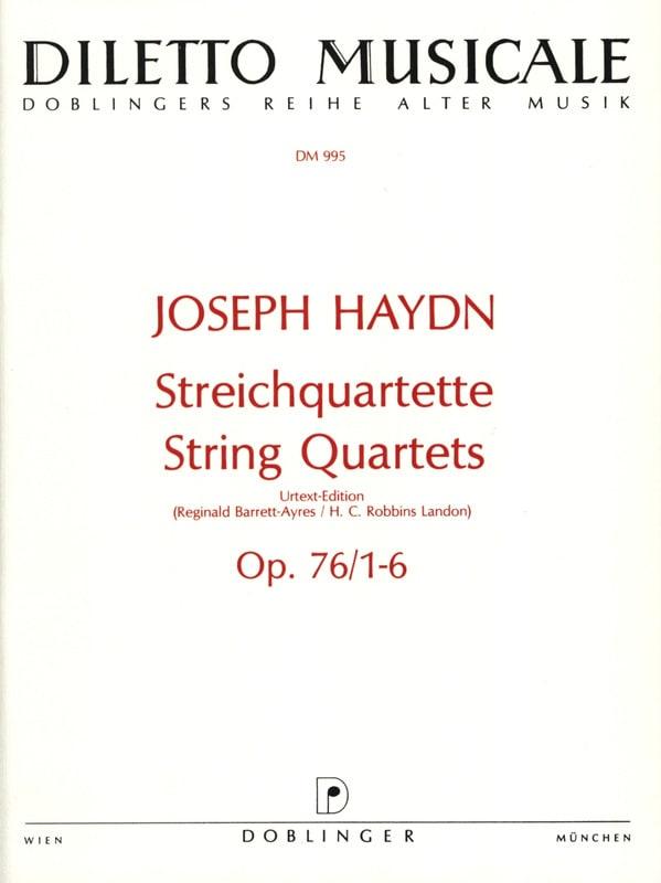Streichquartette op. 76 / 1-6 -Stimmen - HAYDN - laflutedepan.com