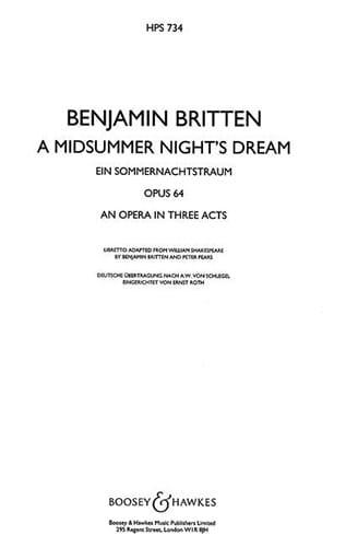 A Midsummer night's dream - Conducteur relié - laflutedepan.com