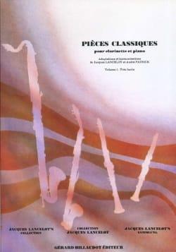 Pièces classiques - Clarinette - Volume 1 laflutedepan