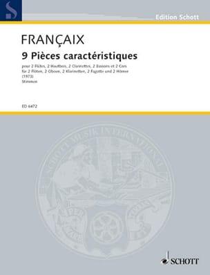 9 Pièces Caractéristiques - Parties FRANÇAIX Partition laflutedepan