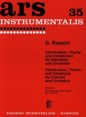 Introduktion, Thema und Variationen ROSSINI Partition laflutedepan