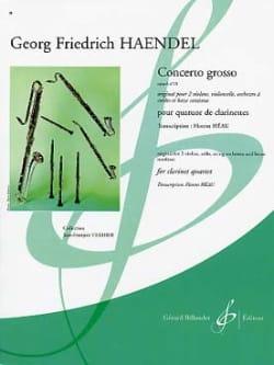 Concerto Grosso Op.6 N°10 HAENDEL Partition Clarinette - laflutedepan