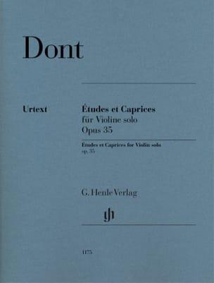 Jacob Dont - Studies and Caprices, opus 35 - Partition - di-arezzo.com