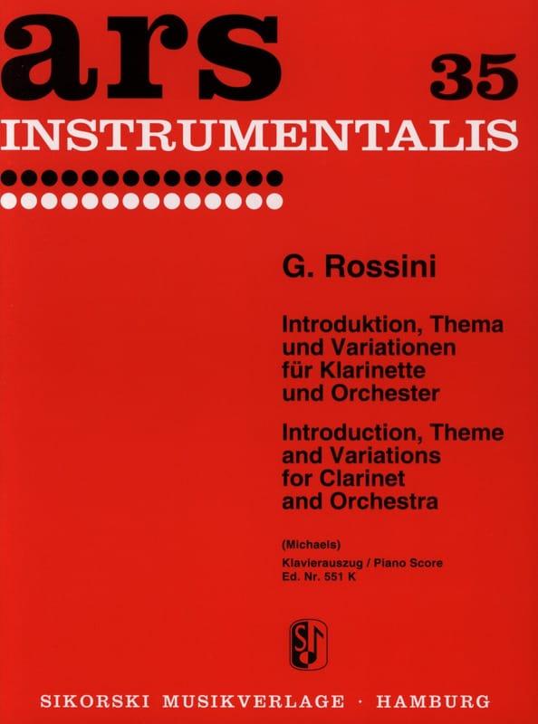 Introduktion, Thema und Variationen - ROSSINI - laflutedepan.com