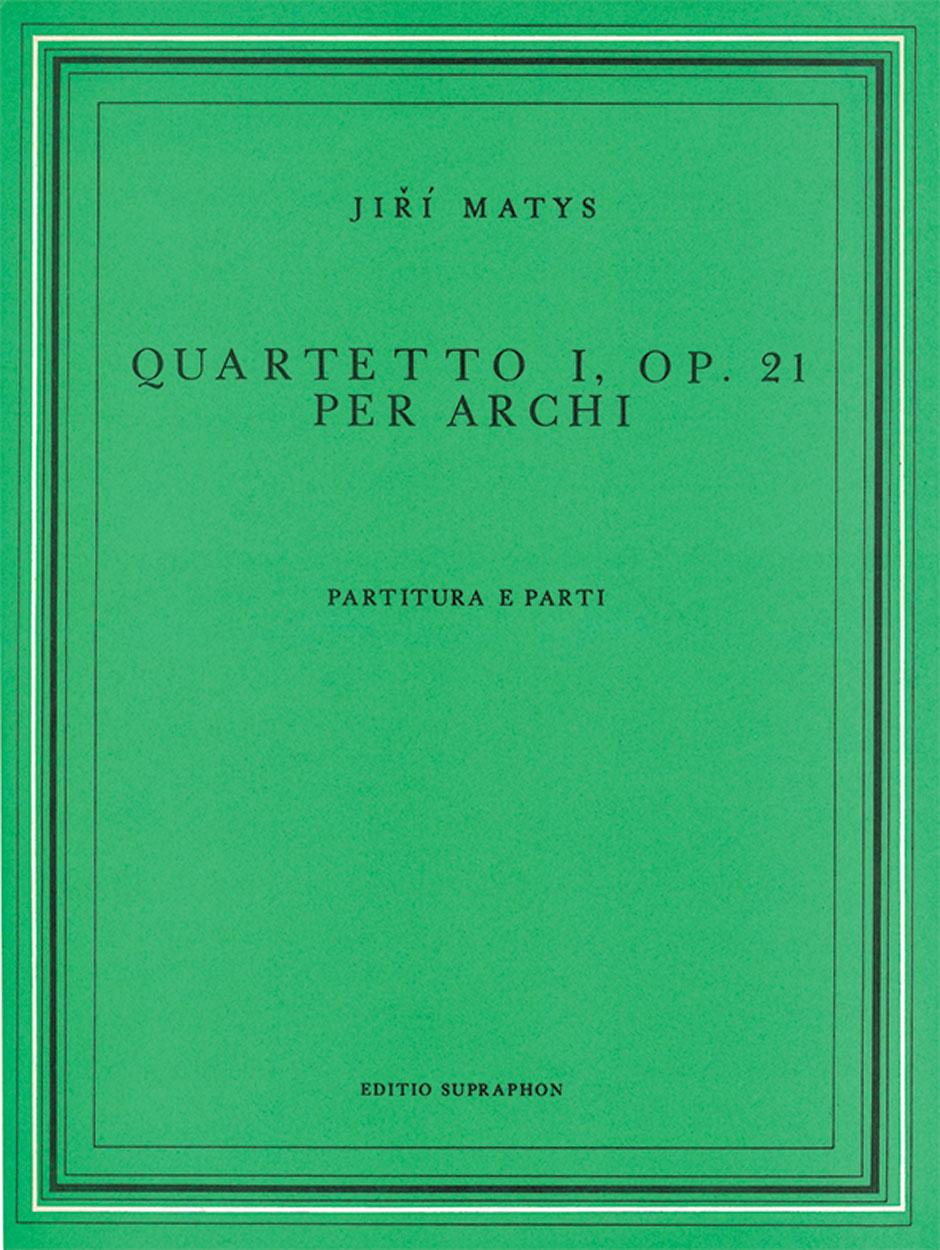 Quartetto per archi n° 1 op. 21 -Partitura e parti - laflutedepan.com
