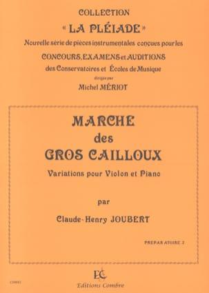 Marche des Gros Cailloux Claude-Henry Joubert Partition laflutedepan
