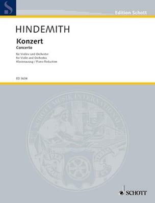 Concerto pour Violon 1939 HINDEMITH Partition Violon - laflutedepan