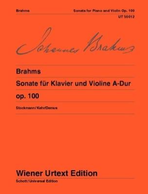 Sonate N°2 en la Majeur Op. 100 BRAHMS Partition Violon - laflutedepan