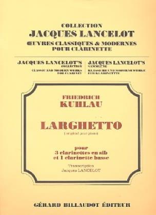 Larghetto - 4 clarinettes - Friedrich Kuhlau - laflutedepan.com