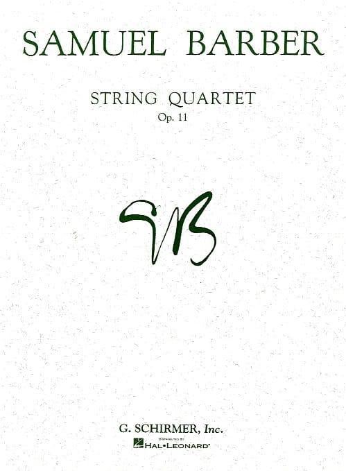 String quartet op. 11 -Parts - BARBER - Partition - laflutedepan.com