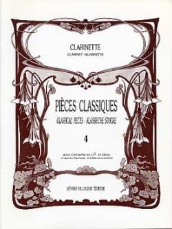 Pièces classiques - Clarinette - Volume 4 laflutedepan