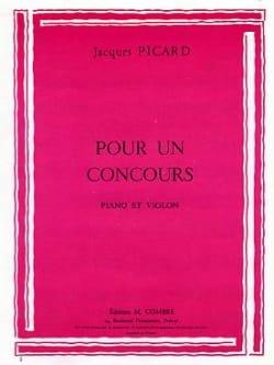 Pour un concours Jacques Picard Partition Violon - laflutedepan