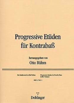 Progressive Etüden für Kontrabass, Heft 1 Otto Rühm laflutedepan