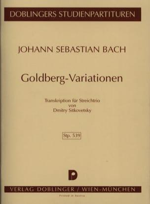 Goldberg - Variationen Streichtrio -conducteur BACH laflutedepan