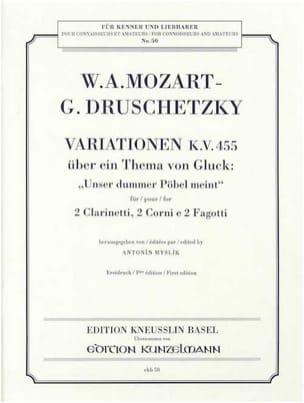 Variationen KV 455 -Bläsersextett - Partitur + Stimmen laflutedepan