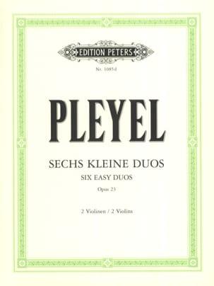 6 kleine Duos op. 23 Ignaz Pleyel Partition Violon - laflutedepan