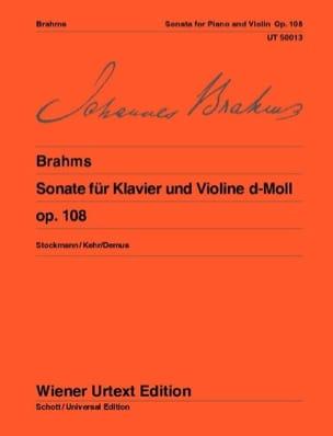 Sonate D-Moll op. 108 BRAHMS Partition Violon - laflutedepan