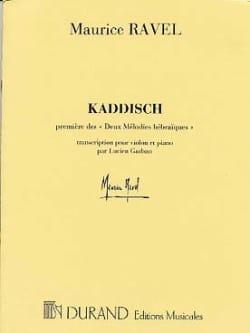 Kaddisch - Violon RAVEL Partition Violon - laflutedepan