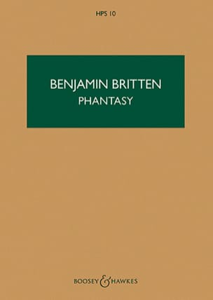 Phantasy - Score BRITTEN Partition Petit format - laflutedepan