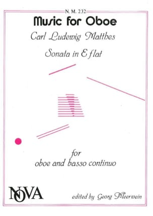 Sonate En Mib Maj. - Hautbois et B.C. Carl Ludwig Matthes laflutedepan