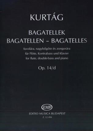 Bagatelles op. 14/D KURTAG Partition Trios - laflutedepan