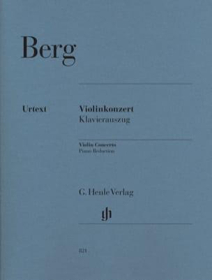 Concerto Pour Violon 1935 BERG Partition Violon - laflutedepan