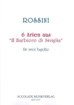 6 Arien aus Il Barbiere di Siviglia ROSSINI Partition laflutedepan