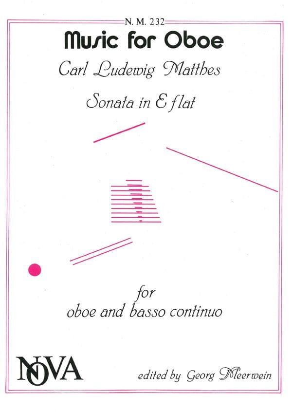 Sonate En Mib Maj. - Hautbois et B.C. - laflutedepan.com