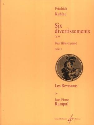 6 Divertissements Op. 68 Vol. 1 - Friedrich Kuhlau - laflutedepan.com